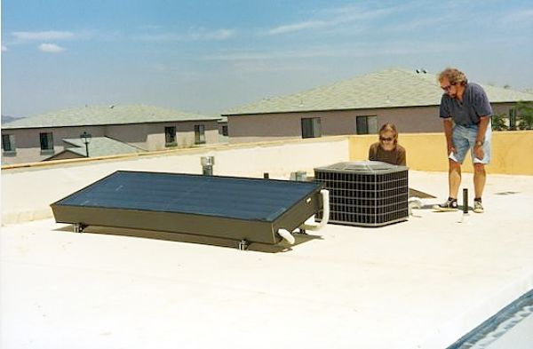 solar powered air conditioner and water heater