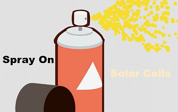 spray on solar cells are the future
